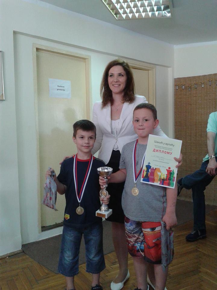 Pobednici turnira, Luka i Mihajlo.